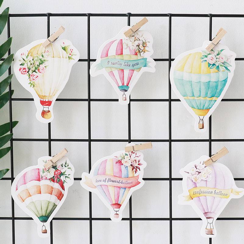 30pcs fly with hot air balloon card multi use as Scrapbooking party ...
