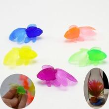 10 шт./лот мягкие резиновые золотые рыбки рыболовные игрушки Пластиковые Моделирование маленькие золотые рыбки Дети для детей водные игрушки