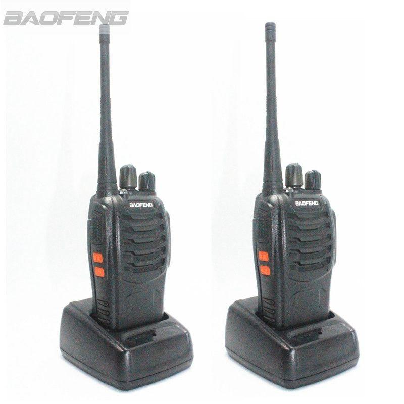 imágenes para 2psc BaoFeng BF-888S del Walkietalkie UHF 3 W HF Jamón CB Radios de Mano Radio de Dos Vías Con El Auricular Libre