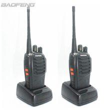 2psc BaoFeng BF-888S Walkie Talkie UHF 3W Handheld HF Ham CB Radios Two Way Radio With Free Earpiece