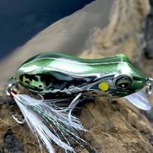 Minnow Frog 10g 5.5cm Frog Lures hard Baits For Snakehead Bass Lures Frog Fishing Floating Topwater fishing lure(China)