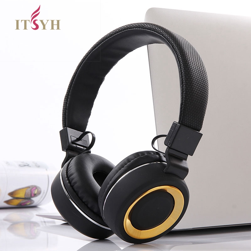 ITSYH Headphone Monitor Music Hifi Headphones Foldable Headset With Microphone Bass Noise-Isolating Stereo Earphone new TW-757 2017 foldable bluetooth headphone m100 headphone for smart phone with fitness monitor music streaming hands free calls