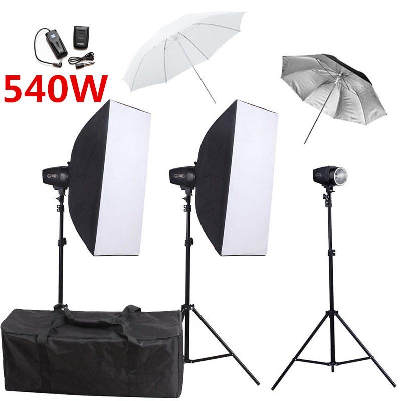 Фотография Godox K 180A Фотостудия софтбокс 540ws Flash комплекты для освещения лайтбокс с