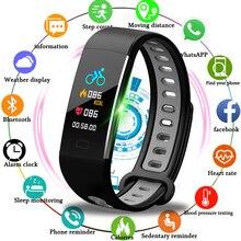 цена LIGE New Smart Watch Men Fitness Tracker Heart Rate Blood Pressure Monitor Smart Bracelet Pedometer Sport Smart wristband+Box