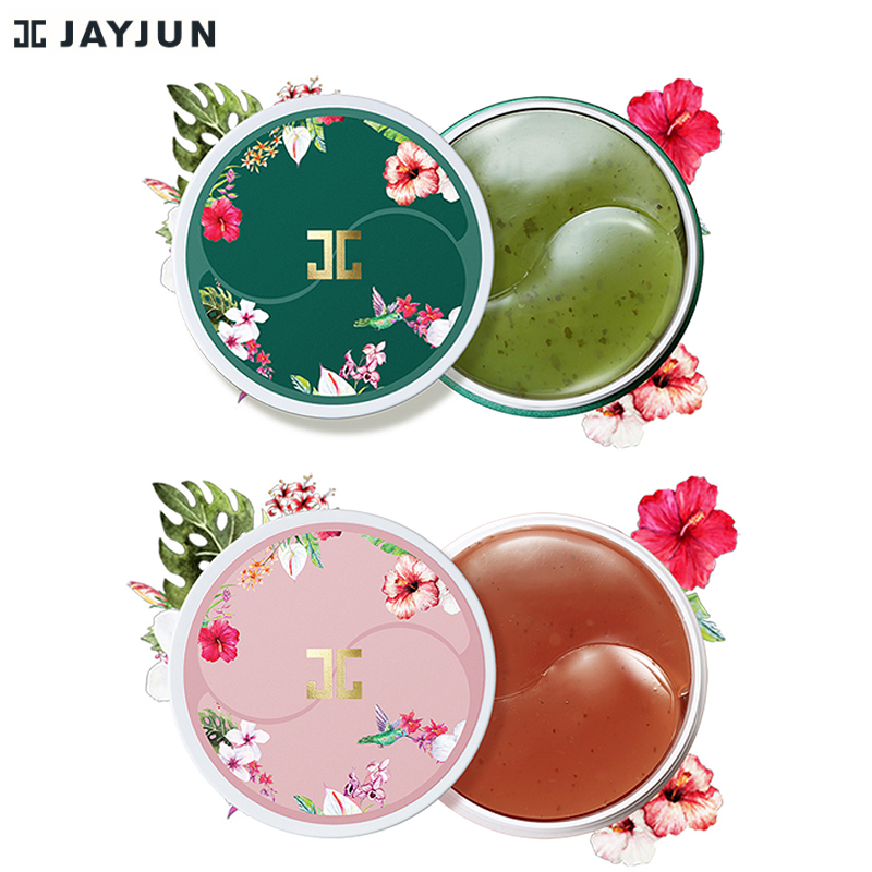 JAYJUN Green Tea / Roselle Hydrogel Eye Gel Patch Under Eye Mask Anti Wrinkle Remove Finelines Dark Circle Brighten 60PCS-in Creams from Beauty & Health