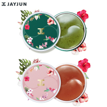 JAYJUN Green Tea / Roselle Hydrogel Eye Gel Patch Under Eye Mask Anti Wrinkle Remove Finelines Dark Circle Brighten 60PCS