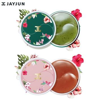 JAYJUN Green Tea / Roselle Hydrogel Eye Gel Patch Under Eye Mask Anti Wrinkle Remove Finelines Dark Circle Brighten 60PCS jayjun biocellulose mask