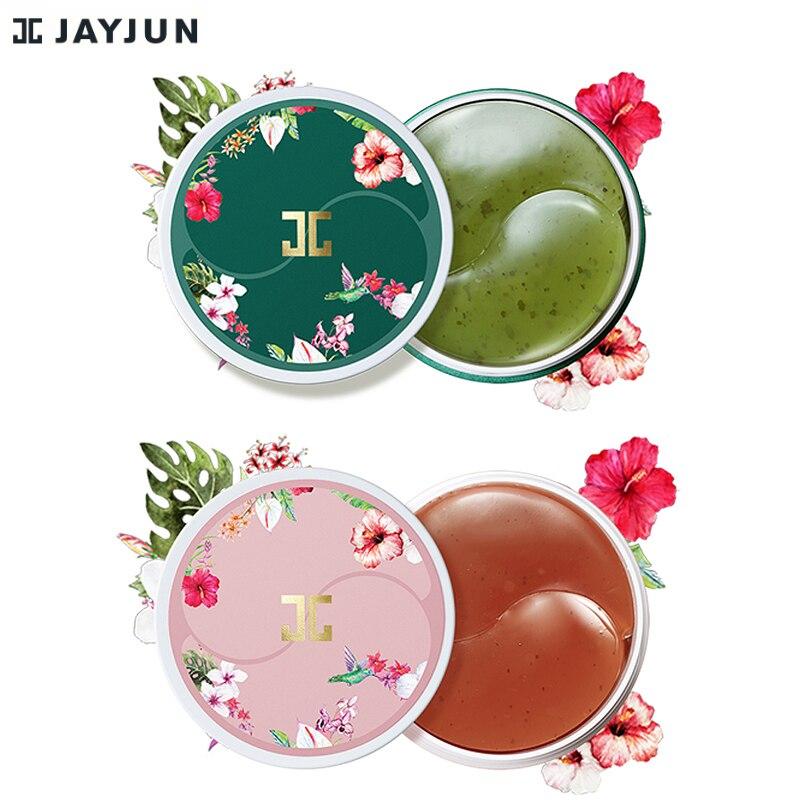 Jayjun chá verde/roselle gel gel olho remendo sob máscara de olho anti rugas remover finelines círculo escuro iluminar 60 peças