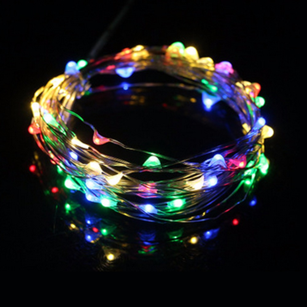 5m 50 LED Waterproof String Lights Wedding Party Festival Christmas Decoration Light for Home Outdoor DIY Fairy Lamp