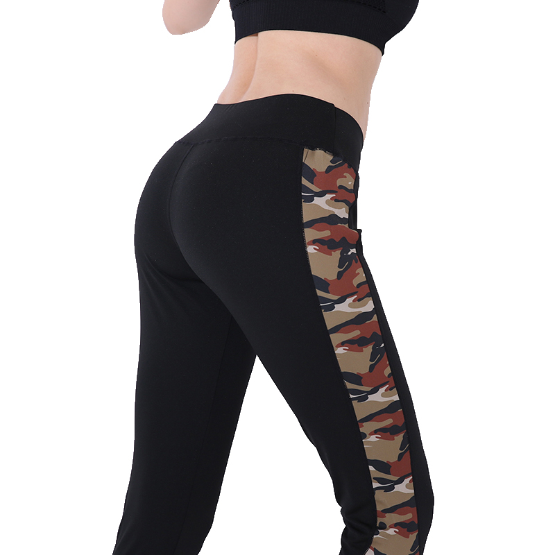 CHRLEISURE Sexy High waist Fitness leggings woman Camouflage print Slim workout pants Autumn Winter black Breathable leggings(China)