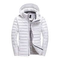 duck down jacket men Europe and USA thickening with a hooded short design winter down coat young men white warm down jacket Q126