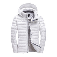 duck down jacket men Europe and USA thickening with a hooded short design winter