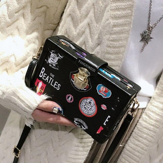 2019 Crossbody Bags For Women Leather Handbags Luxury Handbags Women Bags Designer Badge Box Shoulder Messenger Bag Sac A Main
