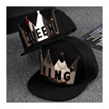 Novelty baseball caps metal KING QUEEN Hats Sun Hats Flat brim LOVER Hip Hop Caps Snap back Adult Custom Hats brand bones gorra