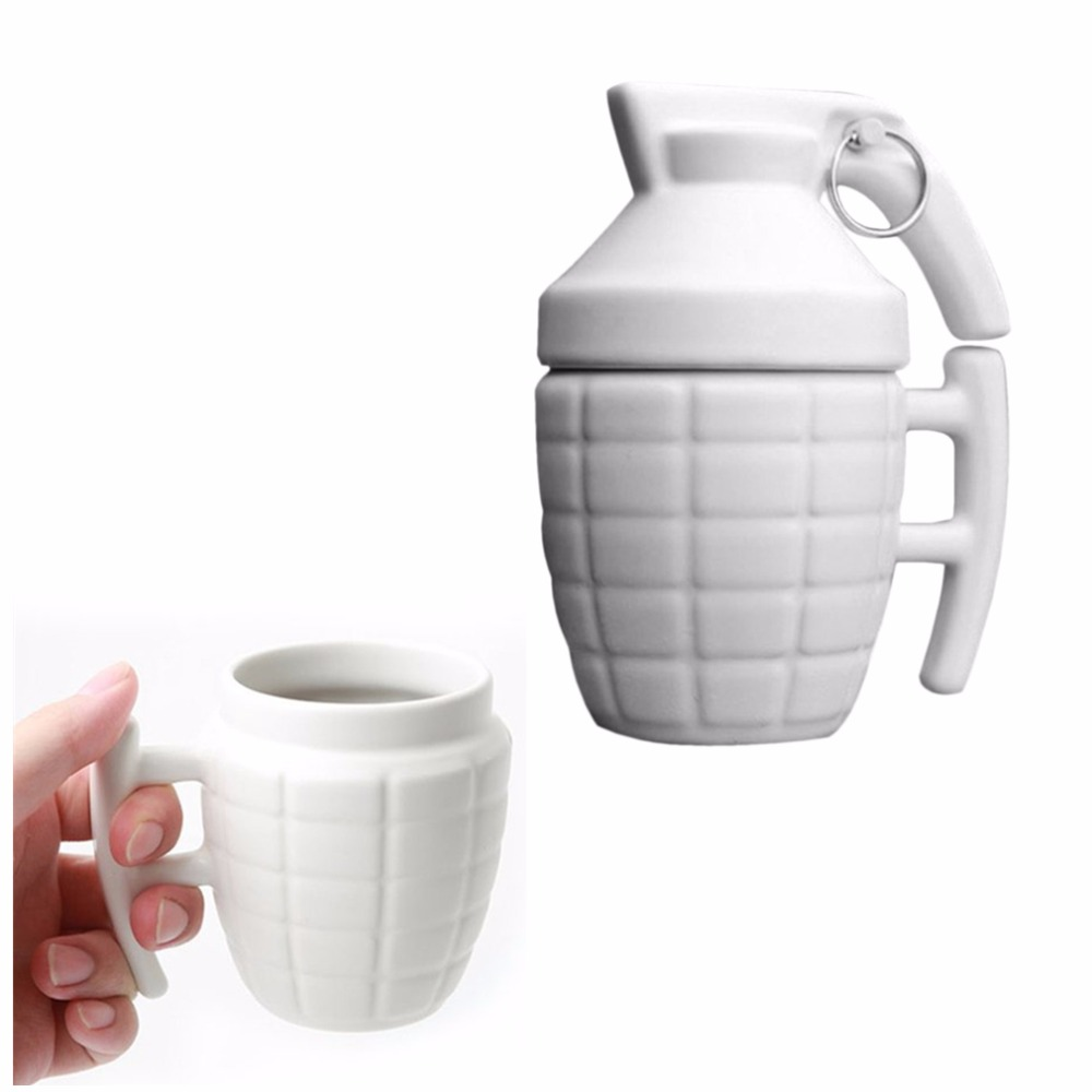280ml Plastic Grenade Shape Coffee Mugs Cup Practical Water Cup With Lid Cafe Grenade Tea Cup Drinkware Gifts Dropshipping