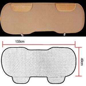 Image 4 - Auto assento traseiro coxim do assento de carro covas protetor esteira do assento caber a maioria dos veículos antiderrapante manter quente inverno veludo de pelúcia volta almofada do assento