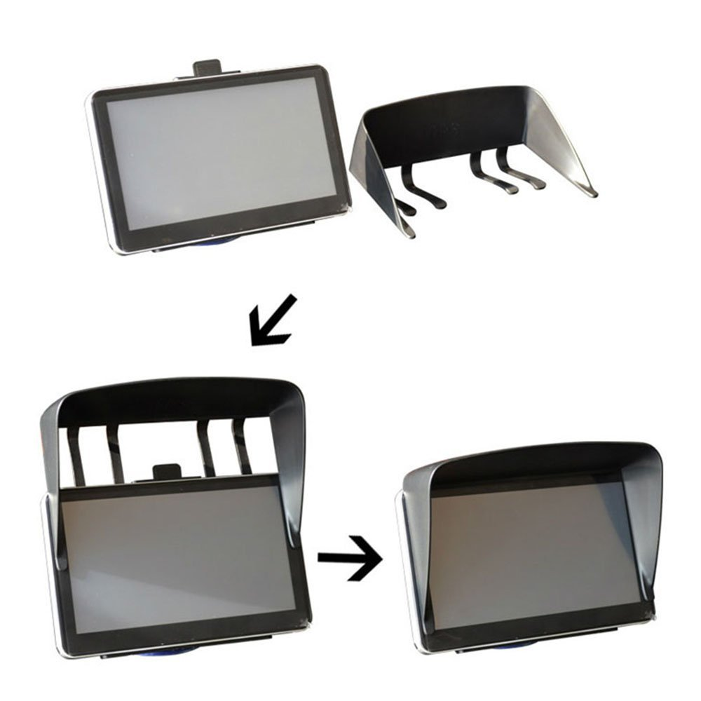 Brand New Sun Shade Shield Glare Visor For 7 inch Car Vehicle GPS Navigator Monitor image