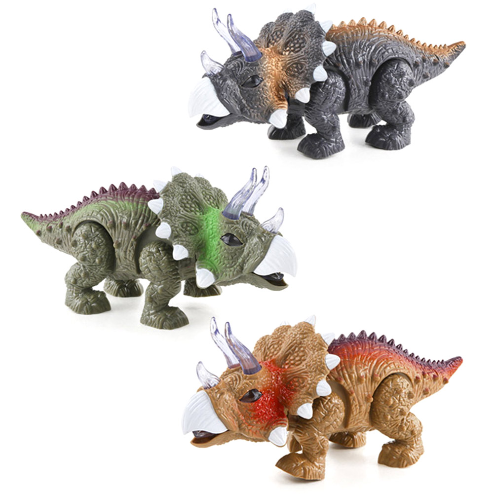LED Light Up Walking Realistic Dinosaur with Sound Plastic Children Toy Kids Birthday Gift M09