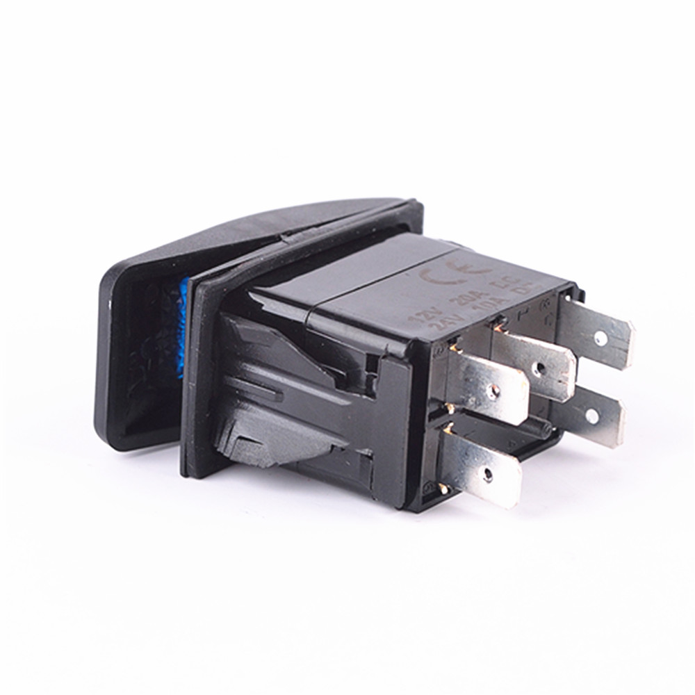 For boat 5pin Laser ROOF LED LIGHT BAR Rocker Switch ON OFF LED Light BLUE in Car Switches Relays from Automobiles Motorcycles