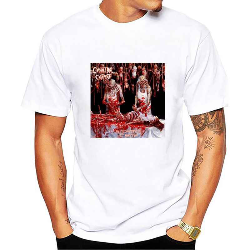 CANNIBAL CORPSE BUTCHERED AT BIRTH 1991 DEATH METAL GRINDCORE NEW BLACK Tt  shirt Short Sleeve Casual 11cb22c46702