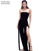 545be104cdd 2019 New Arrival Elegant Sexy Fashion Tassels Embellished Strapless Split  Sleeveless Celebrity Evening Party Club Wear Jumpsuit