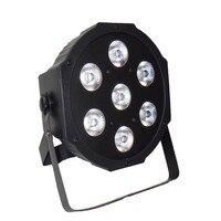 6 יח'\חבילה אלחוטי שלט רחוק LED SlimPar 7x9W RGB 3IN1 LED DJ לשטוף אור שלב Uplighting אין רעש משלוח & משלוח מהיר-באפקטי תאורה לבמה מתוך פנסים ותאורה באתר