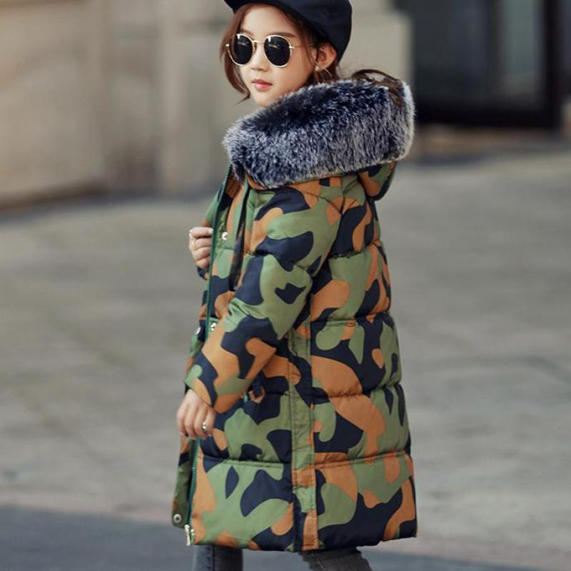2017 New Winter Girls Down Jackets Baby Girls Long Down Coats Thick Down Warm Jacket Manteau Fille Children Outerwears -30degree fashion 2017 girl s down jackets winter russia baby coats thick duck warm jacket for girls boys children outerwears 30 degree