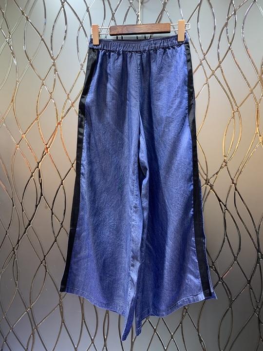 Legs0301 De Large D'été Bleu Avec Printemps 2019 Slacky Pantalon Nouvelles Femmes Et 6byYfv7gI