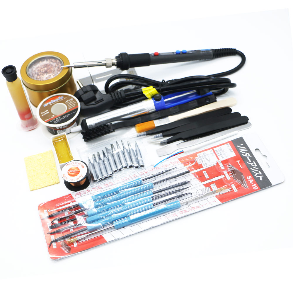 2018 New 220V 60W/90W 936 <font><b>936d</b></font> solder iron quick heating protable <font><b>LCD</b></font> Temperature Digital LED Adjustable Electric Soldering Iron image