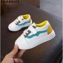 66e47b56 Niñas primavera marca blanco deporte Zapatillas de deporte los niños de moda  de cuero zapatos de moda Casual entrenador plano
