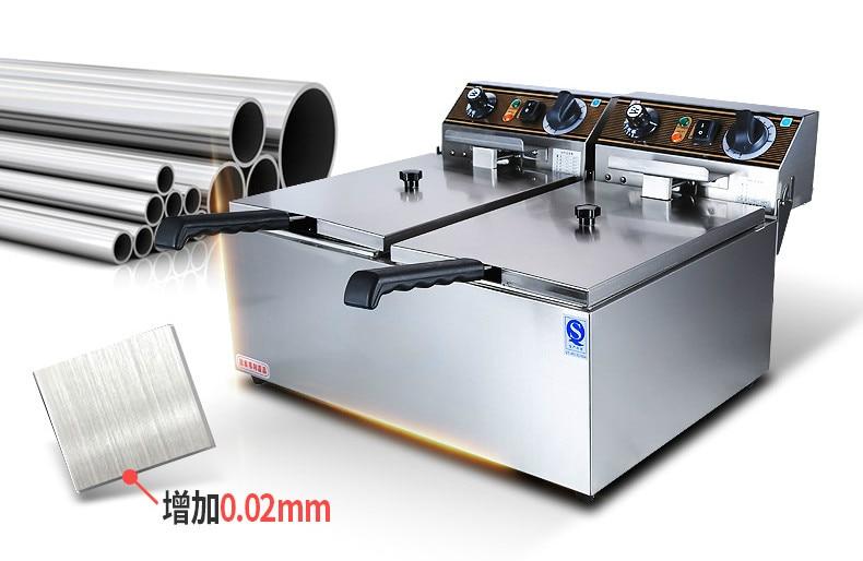 Óleo Fritadeiras elétrica Comercial fritadeira elétrica frigideira
