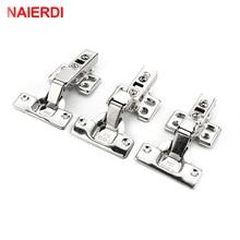 цены на 4PCS NAIERDI-C Serie Hinge Stainless Steel Door Hydraulic Hinges Damper Buffer Soft Close For Cabinet Kitchen Furniture Hardware  в интернет-магазинах