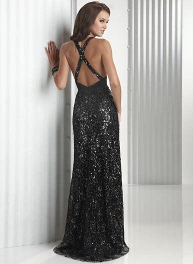 Deb black lace dress