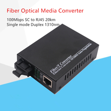 Singe modus duplex fiber 10/100 Mbps Fiber Optical Media Converter Wavelenth 1310nm 20 km RJ45 zu SC Stecker