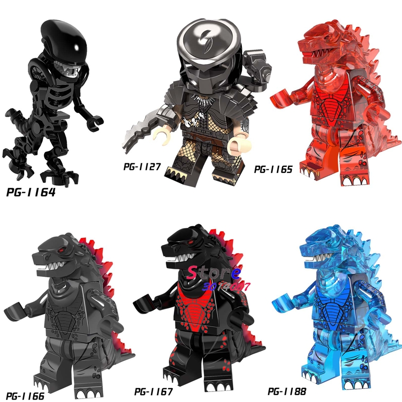 United 50pcs Super Hero Movie Series Alien Vs Predator Giant Monster Figure Model Building Blocks Bricks Toys For Children To Be Renowned Both At Home And Abroad For Exquisite Workmanship Skillful Knitting And Elegant Design