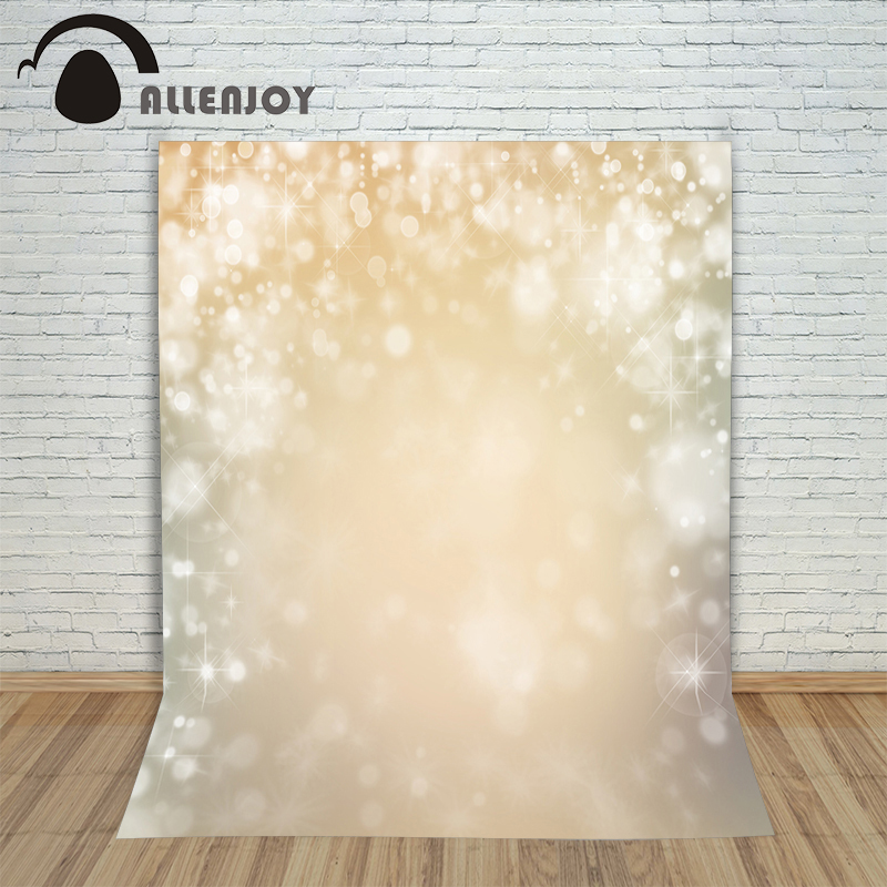 Allenjoy foto background Golden stars bright beautiful snow bokeh Photophone backgrounds for photo studio studio backdrops newborn infant baby girl clothes strap lace floral romper jumpsuit outfit summer cotton backless one pieces outfit baby onesie