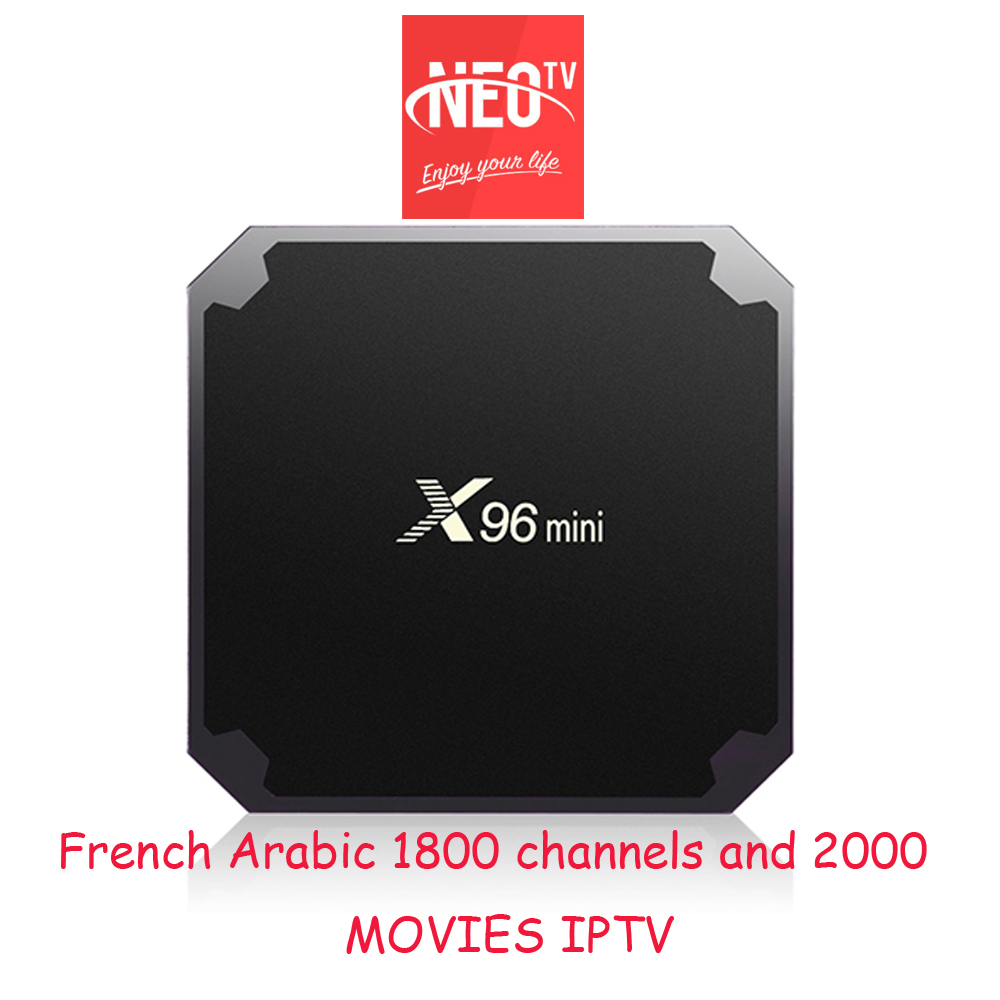 Android tv box X96MINI un an neotv iptv abonnement français arabe iptv code full hd vod MAG test gratuit plus optionnel iptv tes