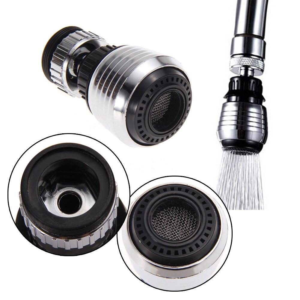 Смеситель с поворотом на 360 градусов, водосберегающий кран для кухонный аэратор, диффузор, насадка для смесителя, фильтр-адаптер, барботер д...