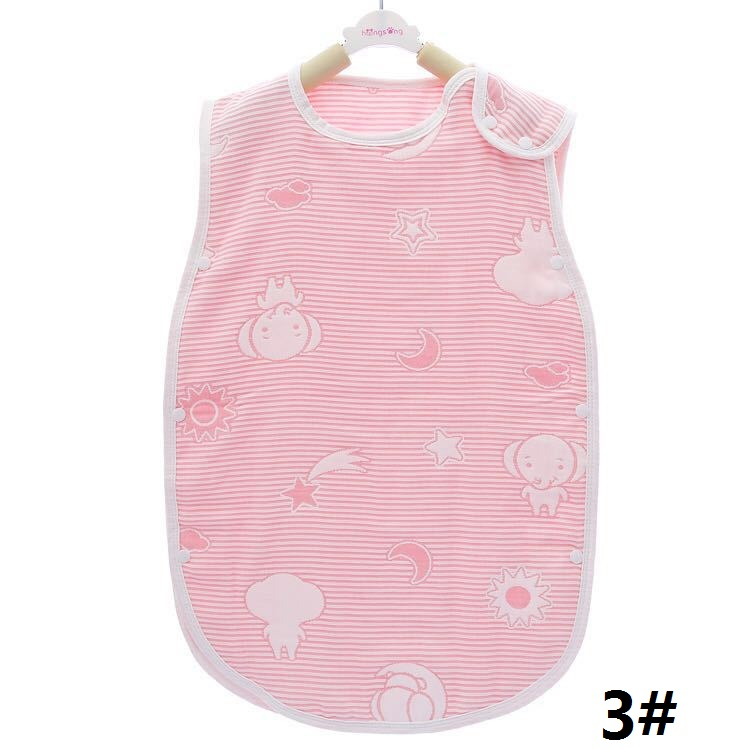 Cotton Vest Baby Sleepware Children Boy Girl Anti Kick Soft Safe Cute Sleeping Bag Muslin 6 layers Gauze Infant Kids Sleepsack