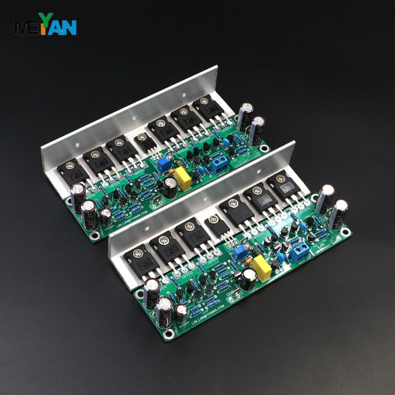 ФОТО 2 PCS Channel Assembled L15 Power amplifier finished board IRFP240 IRFP9240 FET With angle aluminum