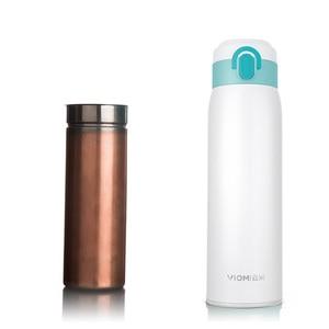 Image 5 - מקורי VIOMI 460ML 300ML כוס תרמוס נירוסטה כוס ואקום 24 שעות בקבוק מים בקבוק כוס תרמוס אחת יד על/קרוב