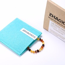 Baltic Amber Bracelet for Adult(Multicolor) – Handmade in Lithuania – Lab-Tested Authentic – 2 Sizes