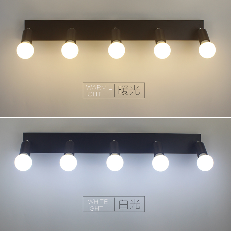 Square mirror front light LED bathroom wall lamp bedroom dresser dressing light bulb bulb waterproof fog 3/5/6 head  LU626 ZL146 dvolador luxury crystal led mirror front light 10w 15w ac110 220v bathroom waterproof anti fog led stainless steel wall light