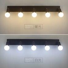 Espejo cuadrado de la luz delantera LED baño armario vestidor dormitorio de la lámpara de pared lámpara de luz de niebla a prueba de agua 3/5/6 cabeza LU626 ZL146