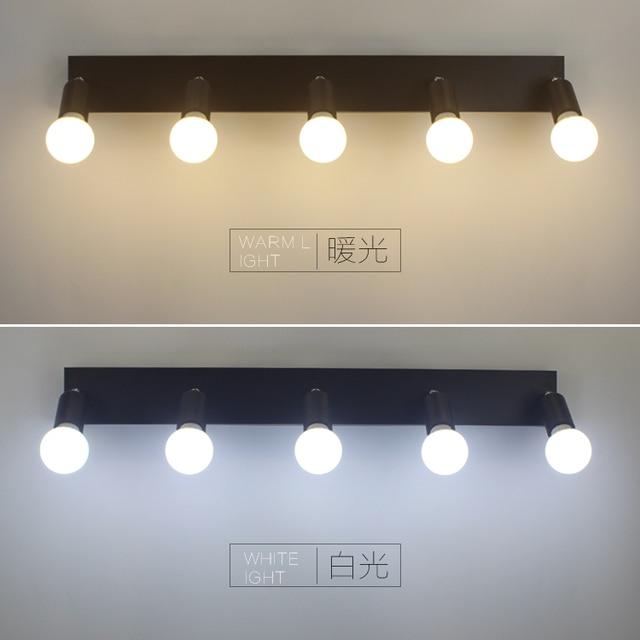Square Mirror Front Light LED Bathroom Wall Lamp Bedroom Dresser Dressing Bulb Waterproof Fog 3 5 6 Head LU626 ZL146