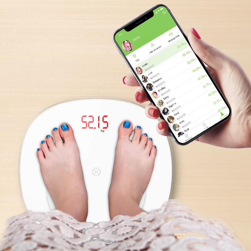 S6 Body Fat Scale Floor Scientific Smart Electronic LED Digital Weight Bathroom scale Balance Bluetooth APP Android or IOS(China)