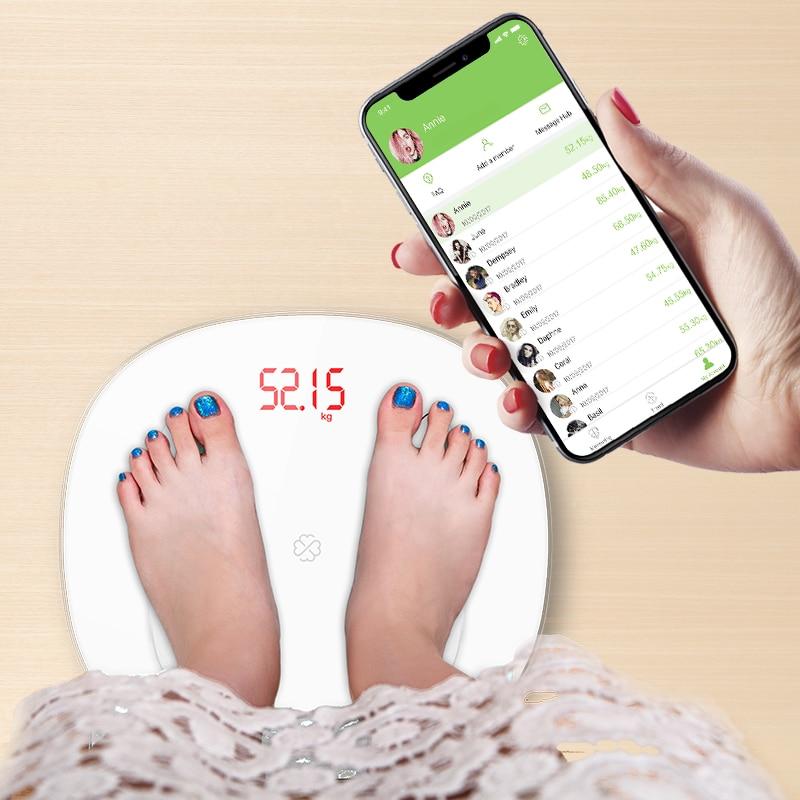 S6 Bilancia Piano Scientifica Smart LED Elettronico Digitale del Peso di Grasso Corporeo Bagno Bilancia Equilibrio Bluetooth APP Android o IOS