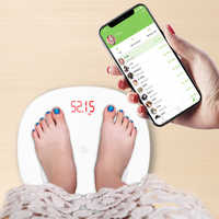 S6 Body Fat Scale Floor Scientific Smart Electronic LED Digital Weight Bathroom scale Balance Bluetooth APP Android or IOS