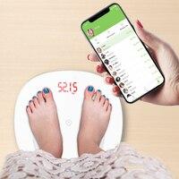 S6 cuerpo báscula de grasa piso científico inteligente electrónico LED Digital peso Báscula de baño balanza Bluetooth APP Android o IOS