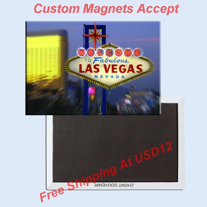 USA Travel Magnets Memorabilia, USA Las Vegas Signal Kovová lednička Magnet 5427 Turistika Souvenir Landmark Scenic